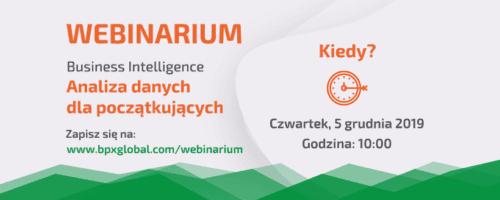 """Webinarium """"Business Intelligence - Analiza danych dla początkujących"""""""