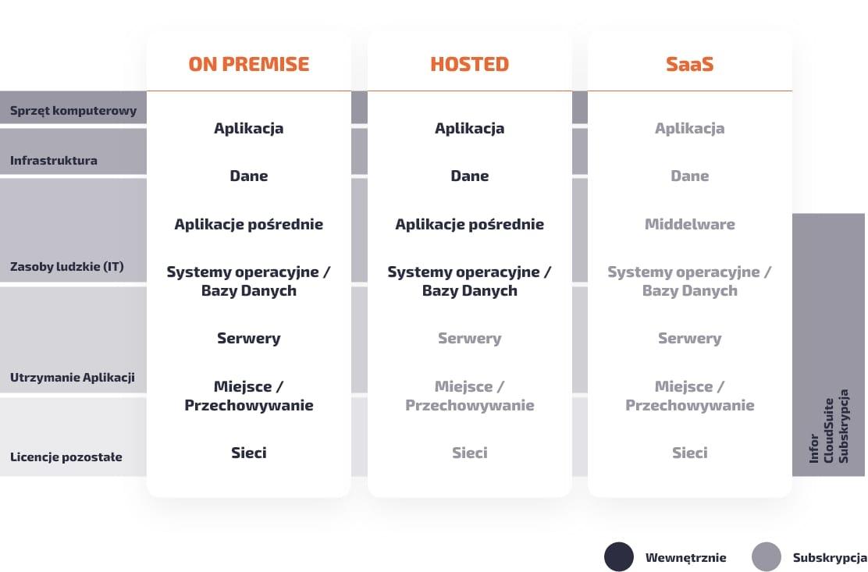 Modele użytkowania aplikacji: on premise, hosted, SaaS