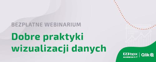 """Bezpłatne webinarium """"Dobre praktyki wizualizacji danych""""."""